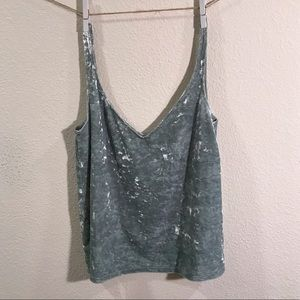 H&M green tank top size extra small